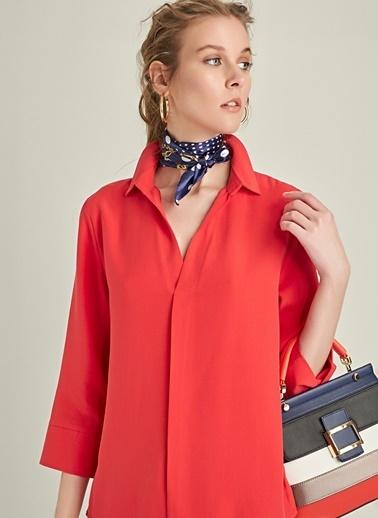 Ng Style Arkası Düğmeli Gömlek Kırmızı